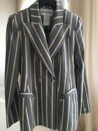 Gorgeous Blue Stripe Thierry Mugler Jacket Angle2