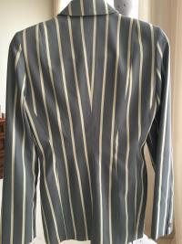 Gorgeous Blue Stripe Thierry Mugler Jacket Angle3