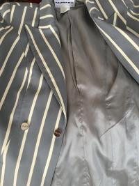 Gorgeous Blue Stripe Thierry Mugler Jacket Angle5