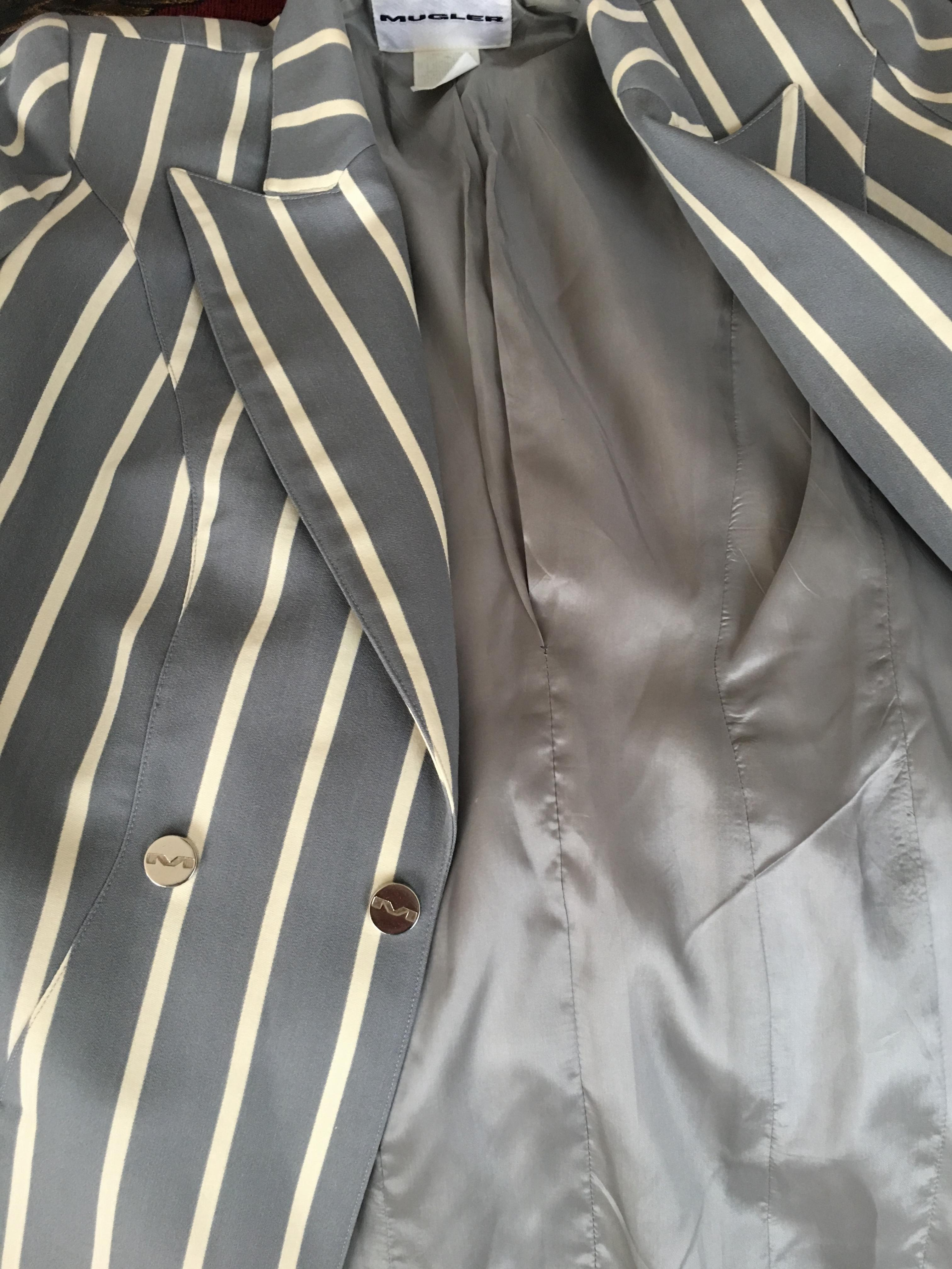 Gorgeous Blue Stripe Thierry Mugler Jacket