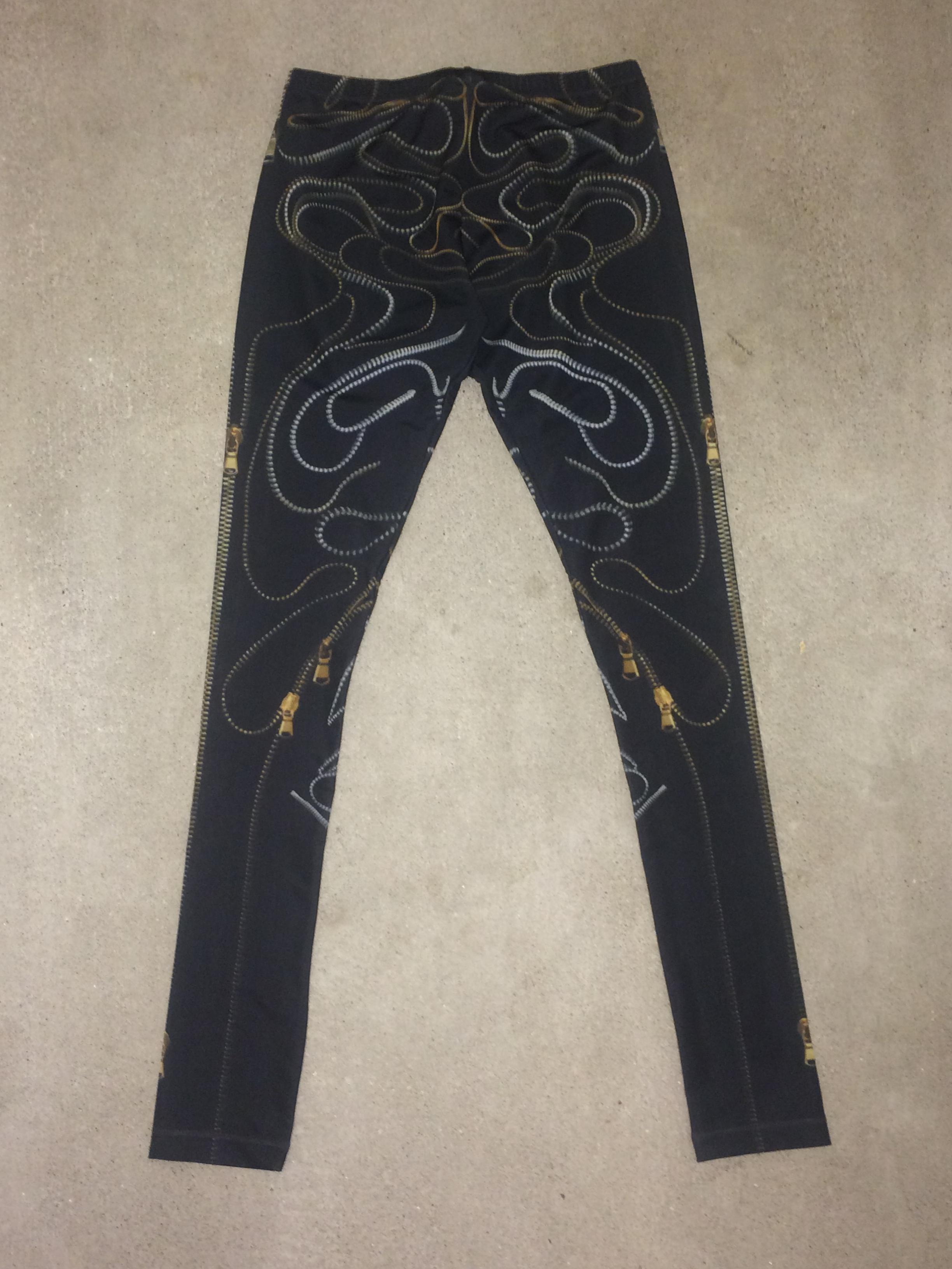 McQ McQueen Zipper Print Leggings XS