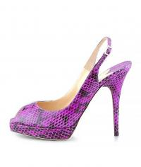 Jimmy Choo Clue snake skin sling back
