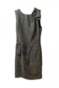 Giorgio Armani Black and White Pattern Dress