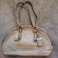 Light nude deer skin purse