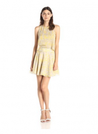 Halston Heritage Silk Printed Flowy dress