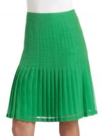 NWT Pleated Green Catherine Malandrino skirt
