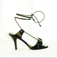 Chloe wooden and leather sandal - Runway! Angle2