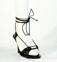 Chloe wooden and leather sandal - Runway! Angle3