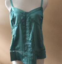Marc Jacobs Silk Teal Tank Top
