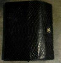 Python Chanel wallet Angle3