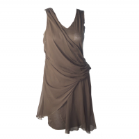 Alice and olivia draped jersey and silk dress