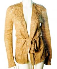 Magaschoni belted and embroidered cardigan