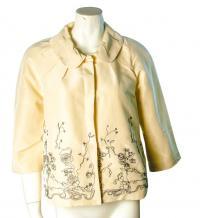 Thakoon bell sleeve silk Tafeta jacket