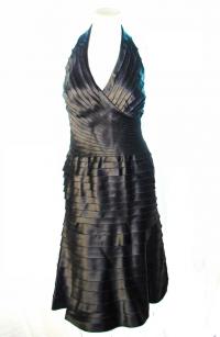 layered Satin Tadashi Shoji for NeimanMarcus dress