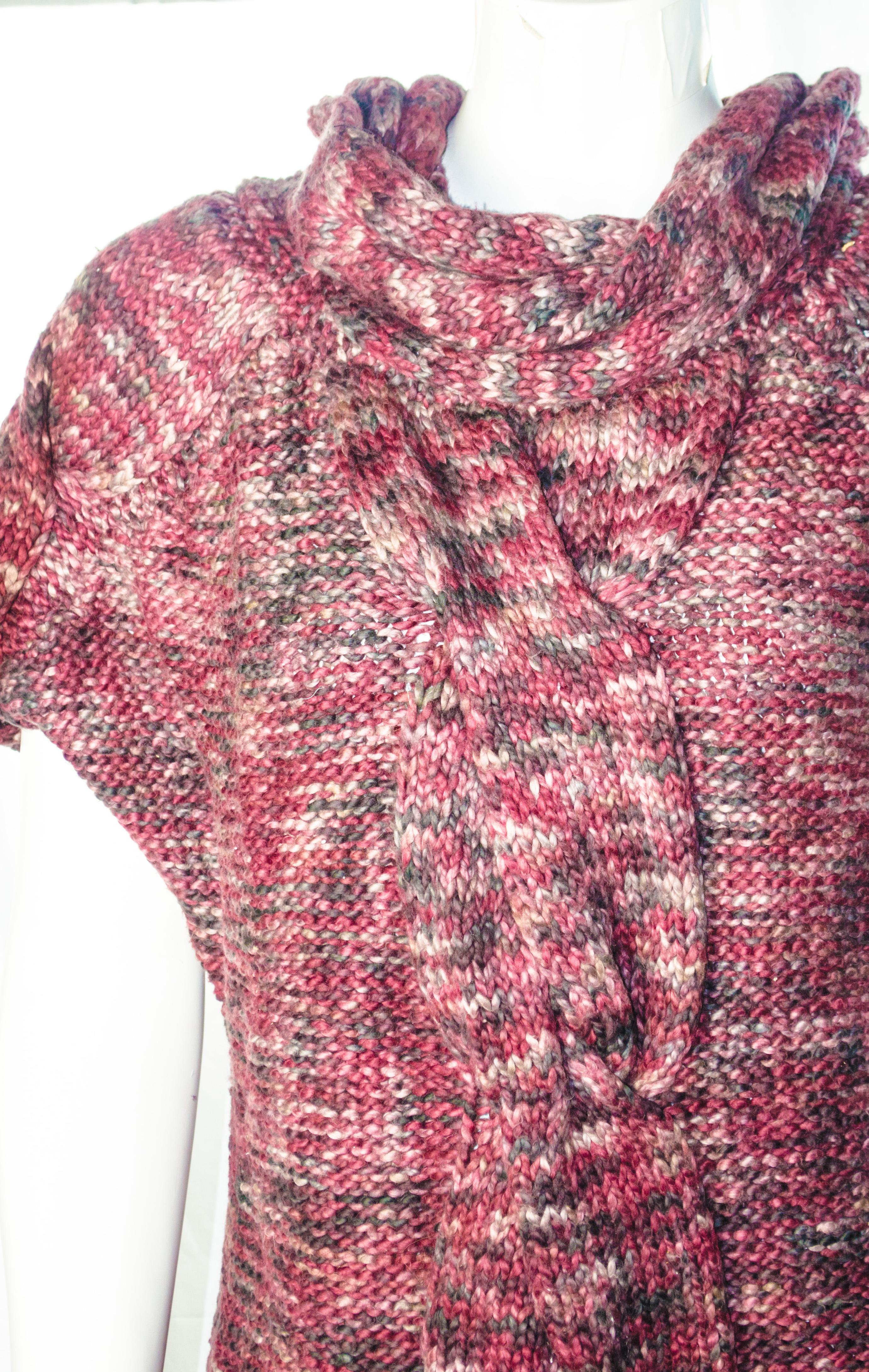 Adam Lipps cable knit sweater