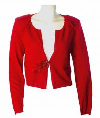 Nanette Lepore red cashmere sweater sz M - New