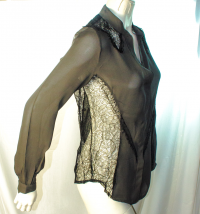 Haute-Hippie lace and silk blouse Angle2
