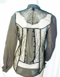 Haute-Hippie lace and silk blouse Angle3