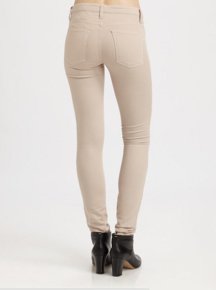 Cream Helmut Lang stretch skinny jeans NWT sz 25