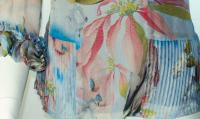 Catherine Malandrino Silk Chiffon ruffle top Angle3