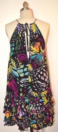 Catherine Malandrino silk ruffle dress