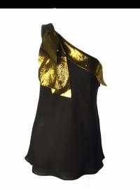 Tibi asymetric silk top Angle1