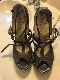 Brian Atwood Worn 1time  platform shoes Angle2