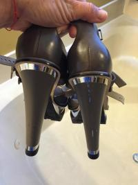 Brian Atwood Worn 1time  platform shoes Angle3