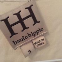 Haute Hippie Cream Top Size S Angle2