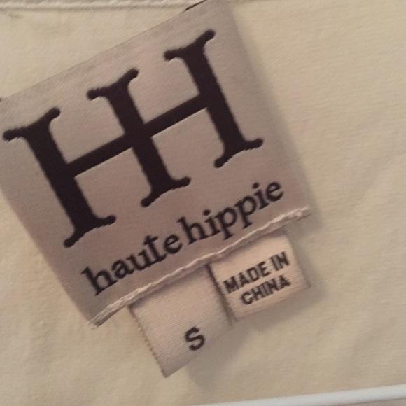 Haute Hippie Cream Top Size S