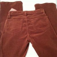 J Brand Burnt Orange Corduroy Jeans 24 Angle2