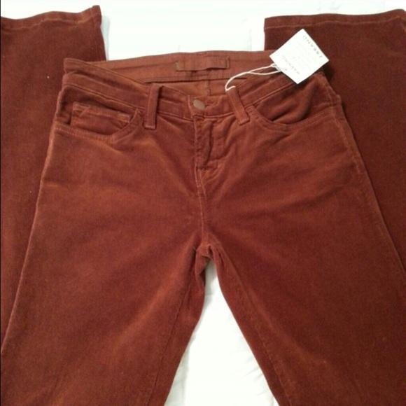 J Brand Burnt Orange Corduroy Jeans 24