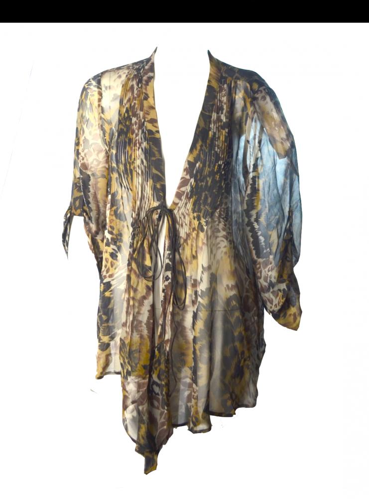 Elizabeth and James shear Kaftan blouse