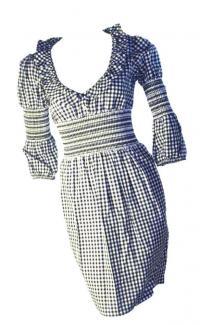 Checkered Moschino dress with smocking