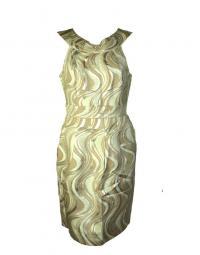Metallic and Cream Tibi dress