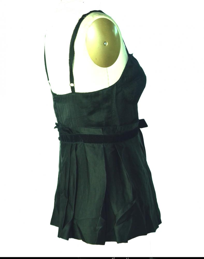 Jill Stuart bustier peplum top with velvet sash