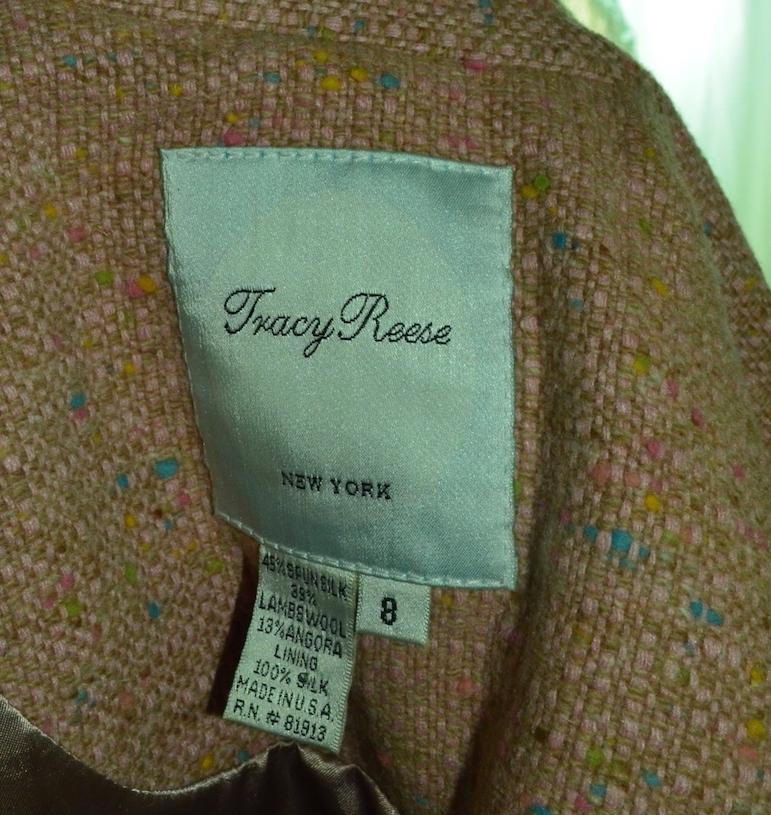 Tracy reese three bow tweed blazer