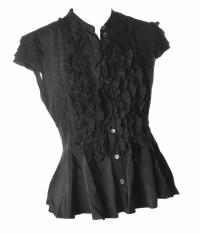 Moschino Cheap and Chic peplum ruffle top