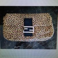 Fendi leapard print clutch or shoulder bag- conver