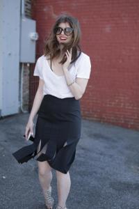 Black Tibi Skirt