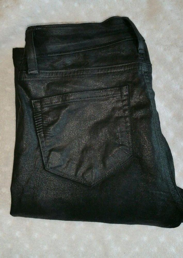Paige waxed jeans black sz. 26