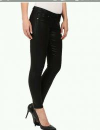 Paige waxed jeans black sz. 26