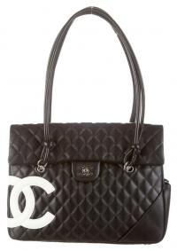 Chanel large Ligne Cambon Flap Bag- Calfskin Black