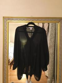 DVF Black Silk Blouse
