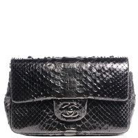 Chanel bronze Python Mini Rectangle Flap