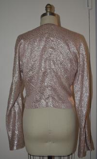 Marni pink lam'e Double Breasted Wrap Angle3