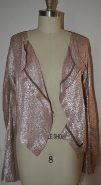 Marni pink lam'e Double Breasted Wrap Angle5