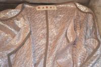 Marni pink lam'e Double Breasted Wrap Angle2