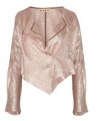 Marni pink lam'e Double Breasted Wrap Angle1