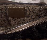 CELINE FUR PATENT LEATHER CLUTCH Angle3
